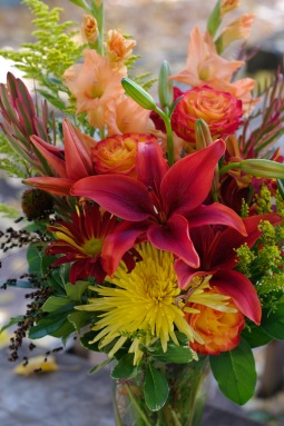 Deep orange fall bouquet