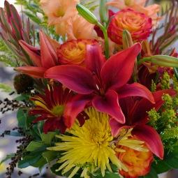 Deep orange fall bouquet