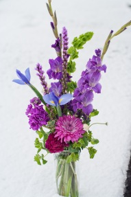 Birthday in violets