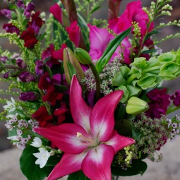 Garden-style with lilies