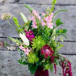 Pink & green bouquet
