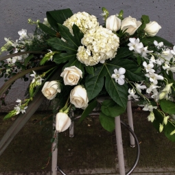 White casket cover-formal style