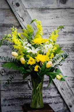 Vased arrangement for service