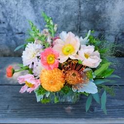 Garden bouquet with Icelandic poppies