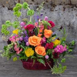 Technicolor garden planter