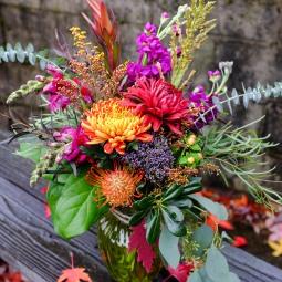 Fall jewel tone bouquet